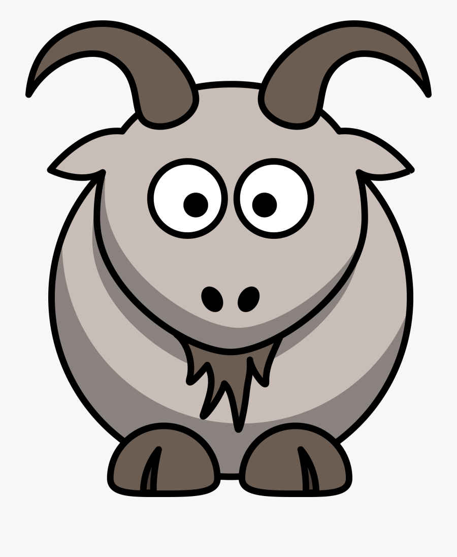 Transparent Ram Animal Clipart - Cartoon Goat Clipart, Transparent Clipart