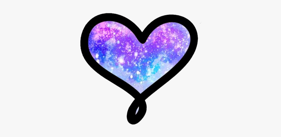 Galaxy Heart Transparent Background, Transparent Clipart