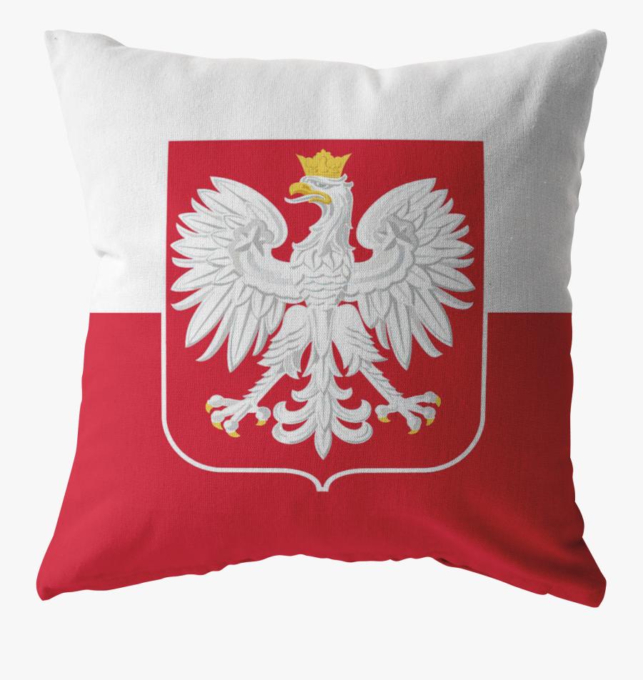 Polish Flag Pillow - Official Eagle Polish Flag, Transparent Clipart