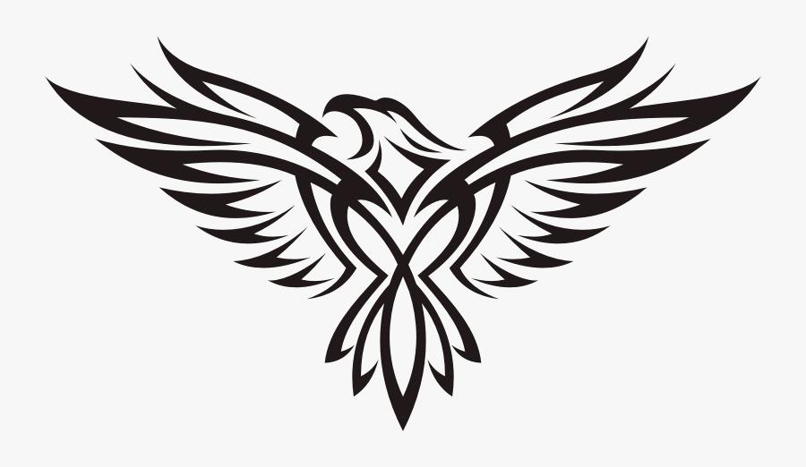 Drawing Eagle Tattoo Clip Art - Tribal Eagle Tattoo Designs, Transparent Clipart