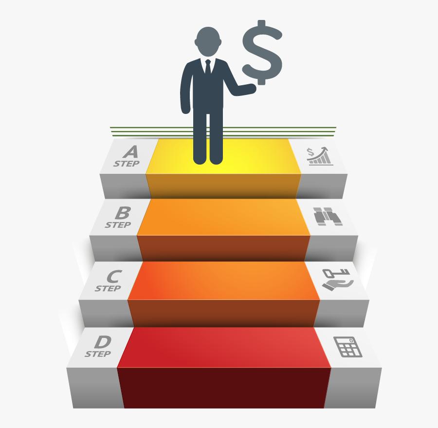 Ladder Of Success Vector Image Png Download - Ladder Of Success, Transparent Clipart