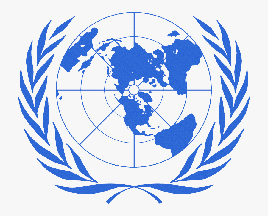 United Nations Logo Png, Un Logo Png - United Nation World Map, Transparent Clipart