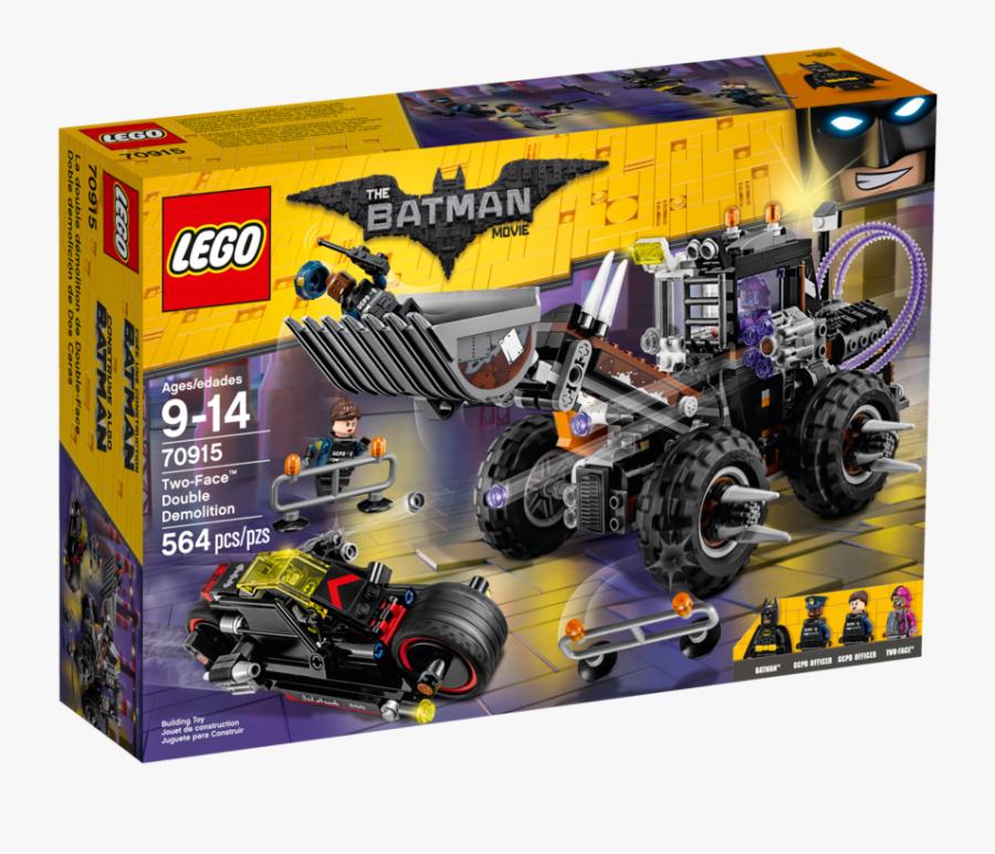Transparent Lego Face Png - Lego Batman Movie Two Face Double Demolition, Transparent Clipart