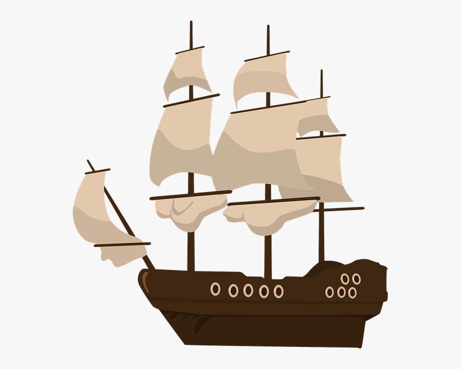 Pirate Ship Clipart, Transparent Clipart