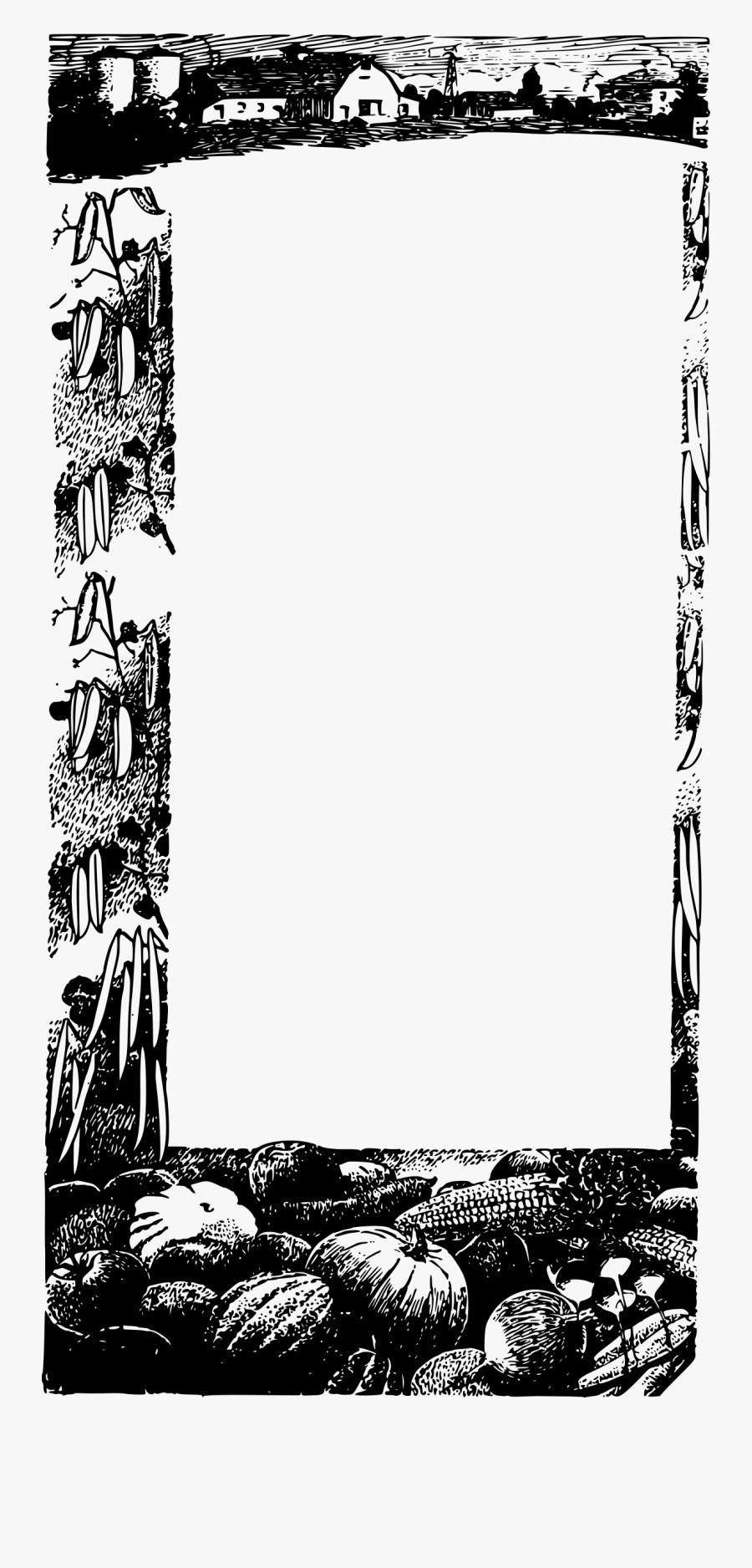 Veggies Frame Big Image - Portable Network Graphics, Transparent Clipart