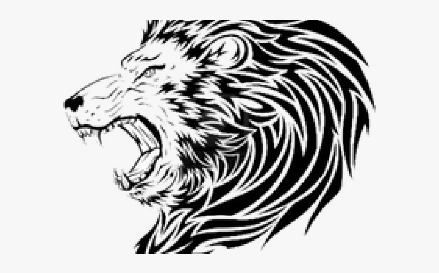 None - Lion Head Tattoo Png, Transparent Clipart