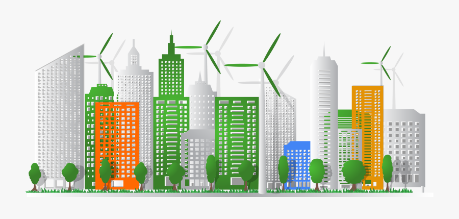 Eco Cities Ecology Planning - Sustainable City Png, Transparent Clipart