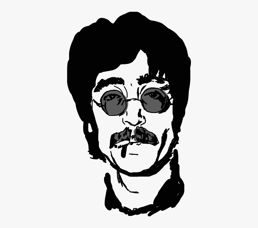 Freetoedit Johnlennon Draw Mydraw Trace Outline Illustration Free Transparent Clipart Clipartkey