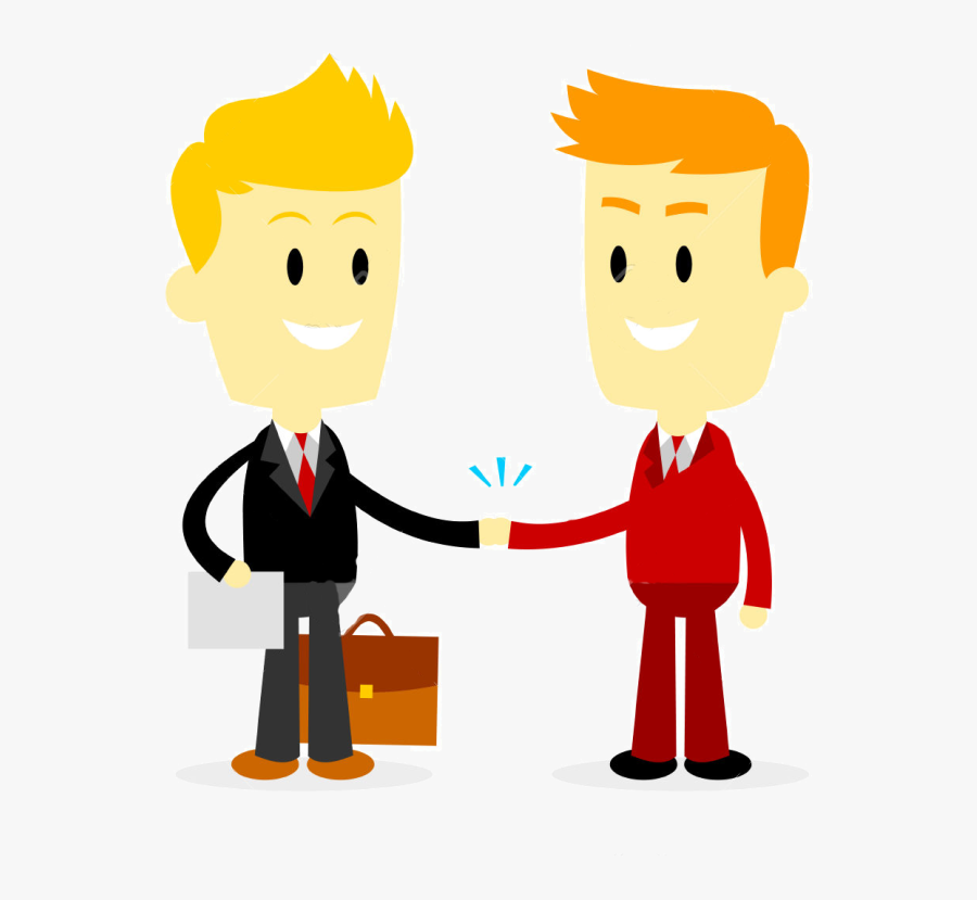 Summit Clipart - Businessman Making A Deal, Transparent Clipart
