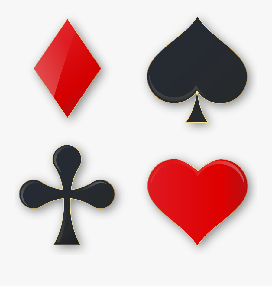 Clipart Free Library Playing Cards Suits Clipart, Transparent Clipart