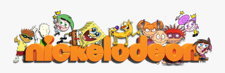 Nickelodeon Characters Rocket Power Doug Fairly Oddparents - Nickelodeon Logo With Characters, Transparent Clipart