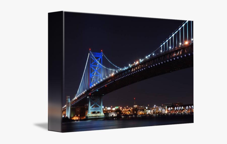 Ben Franklin Bridge Png - Self-anchored Suspension Bridge, Transparent Clipart