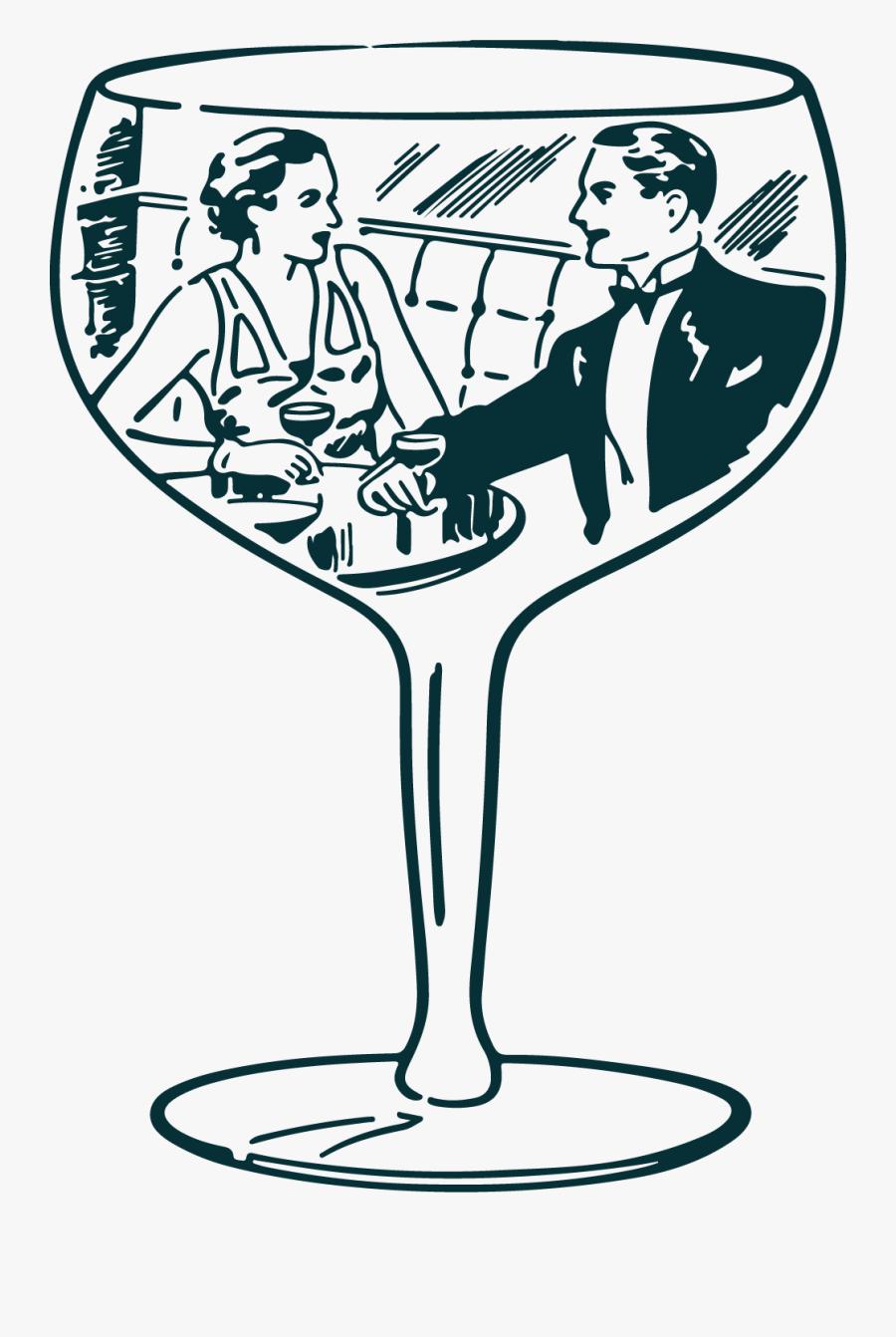 Wine Glass Clipart , Png Download - Pareja Dentro De Una Copa, Transparent Clipart