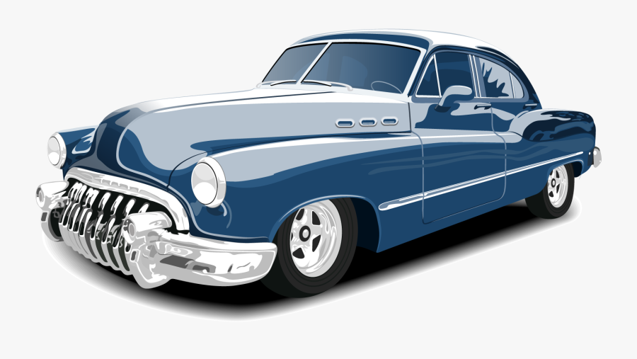 Vector Vintage Classic Car Free Hd Image Clipart - Classic Car Vector Png, Transparent Clipart