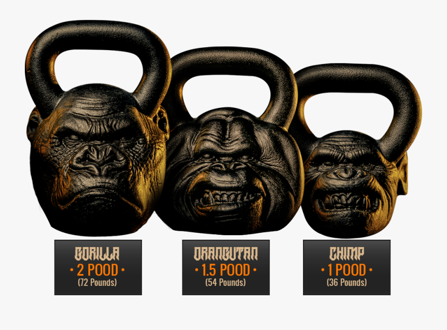How Can I Live - Gorilla Head Kettlebell, Transparent Clipart