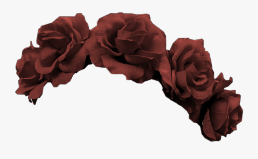 #red #crown #flower #rose #flowers #roses #tiara #burgundy - Transparent Blue And Red Flower Crown, Transparent Clipart