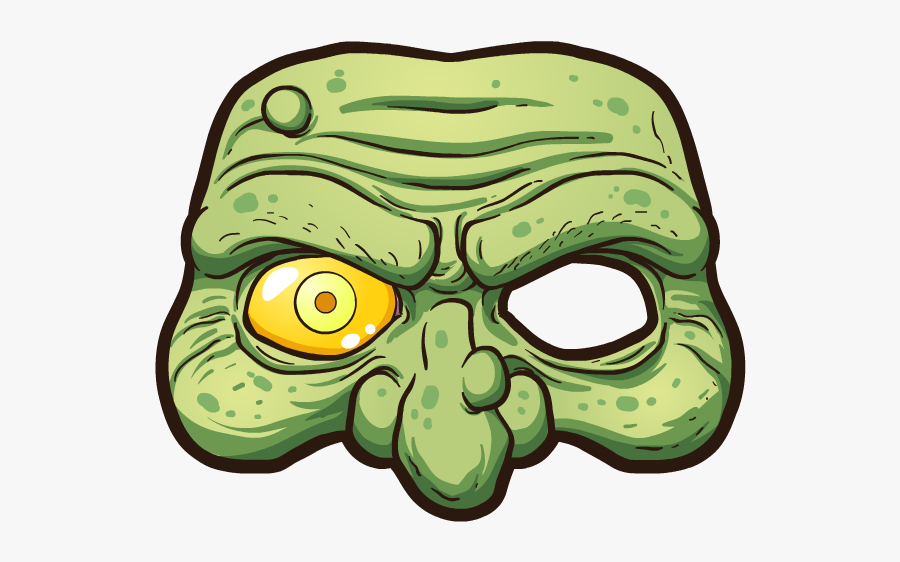 #zombie #mask #freetoedit #zombies #zombi #fear #terrible - Sticker Brain Picsart, Transparent Clipart