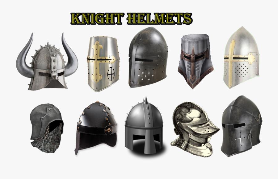 Transparent Medieval Helmet Png - Knight Helmets, Transparent Clipart