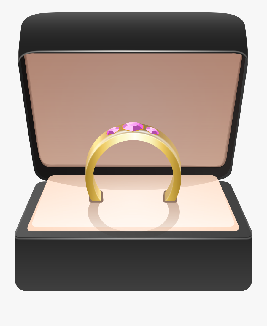 Gold In Clip Art - Gold Ring Box Png, Transparent Clipart
