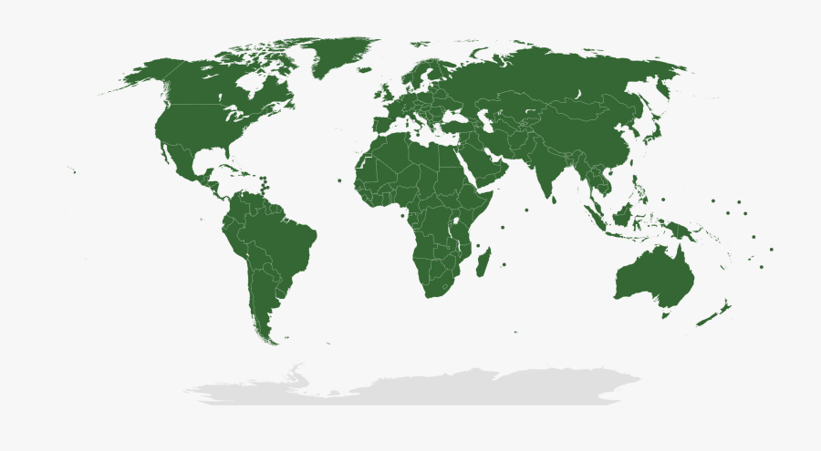 2000px United Nations Members 28green E2 80 93grey - Un Member States Map, Transparent Clipart