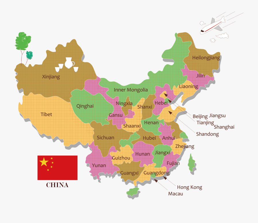 Map Vector China Free Clipart Hq Clipart - China Map Vector Free, Transparent Clipart