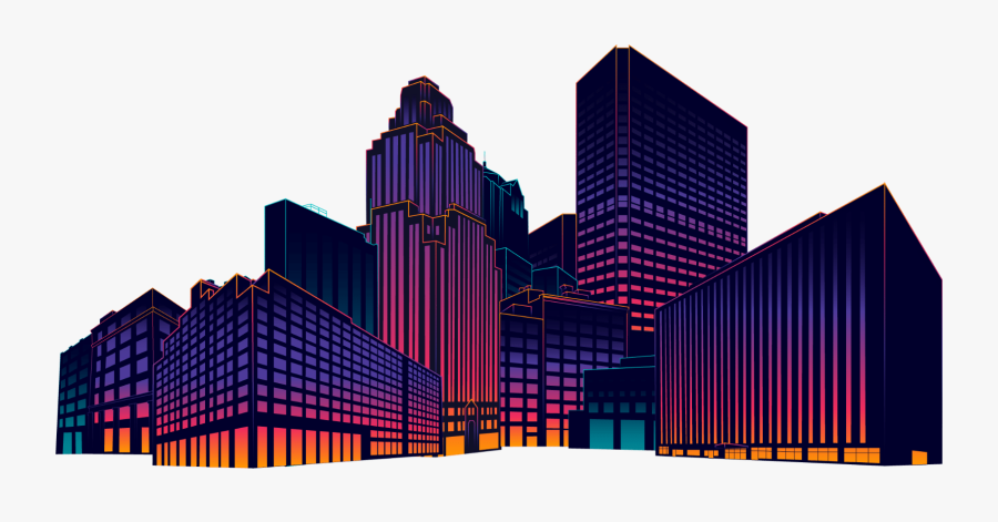 Transparent Block Tower Clipart - City Building Pics Png, Transparent Clipart
