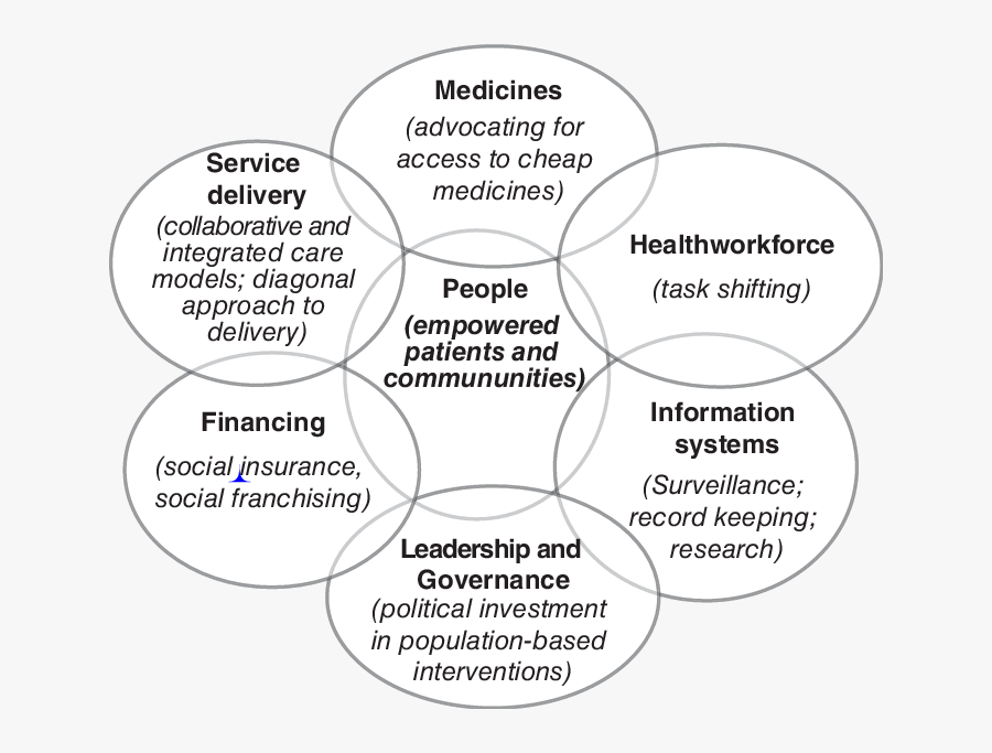 The Who Health Systems Building Blocks - Building Blocks Of Healthcare, Transparent Clipart