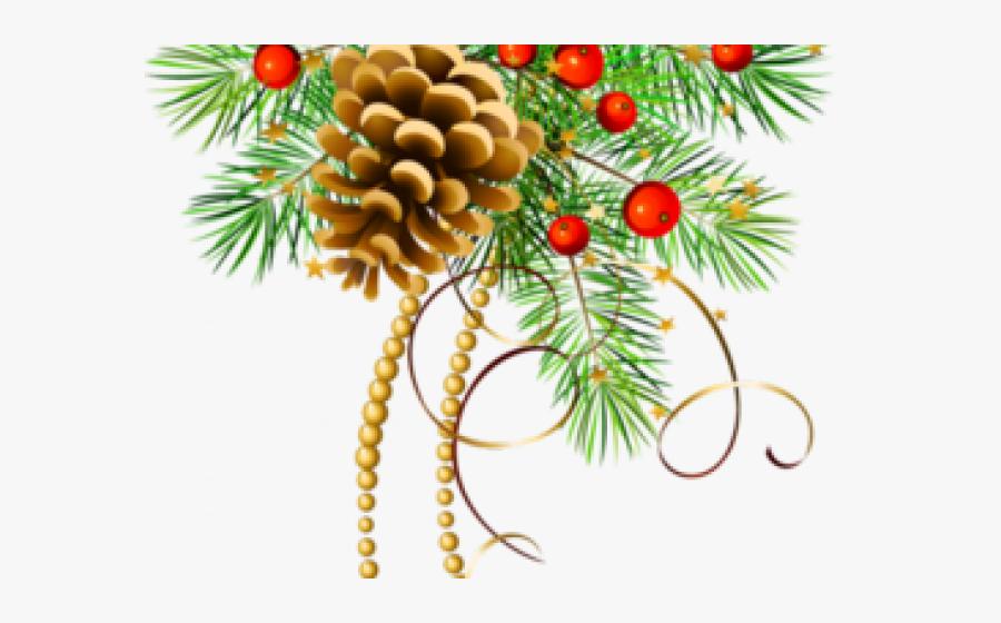 Christmas Pine Cone Clip Art, Transparent Clipart