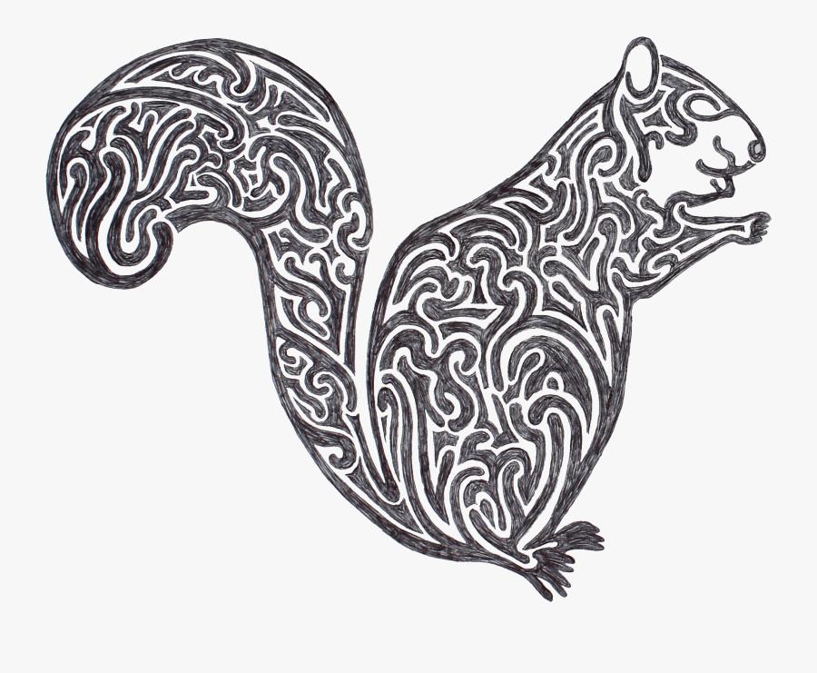 Drawn Squirrel Totem Pole - Illustration, Transparent Clipart