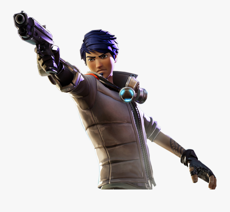 Clip Art Characters For Free - Fortnite Skin With Gun, Transparent Clipart