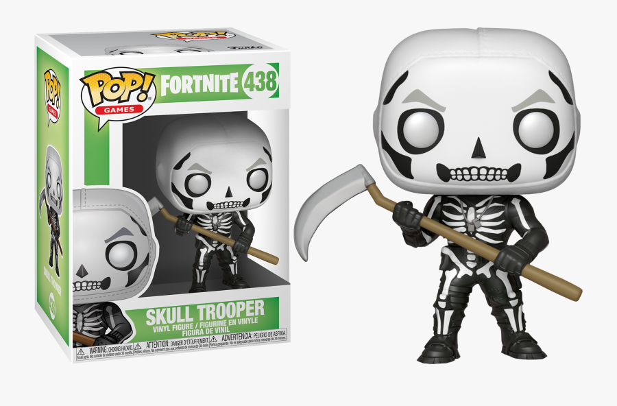Skull Trooper Clipart Character - Funko Pop Fortnite Skull Trooper, Transparent Clipart