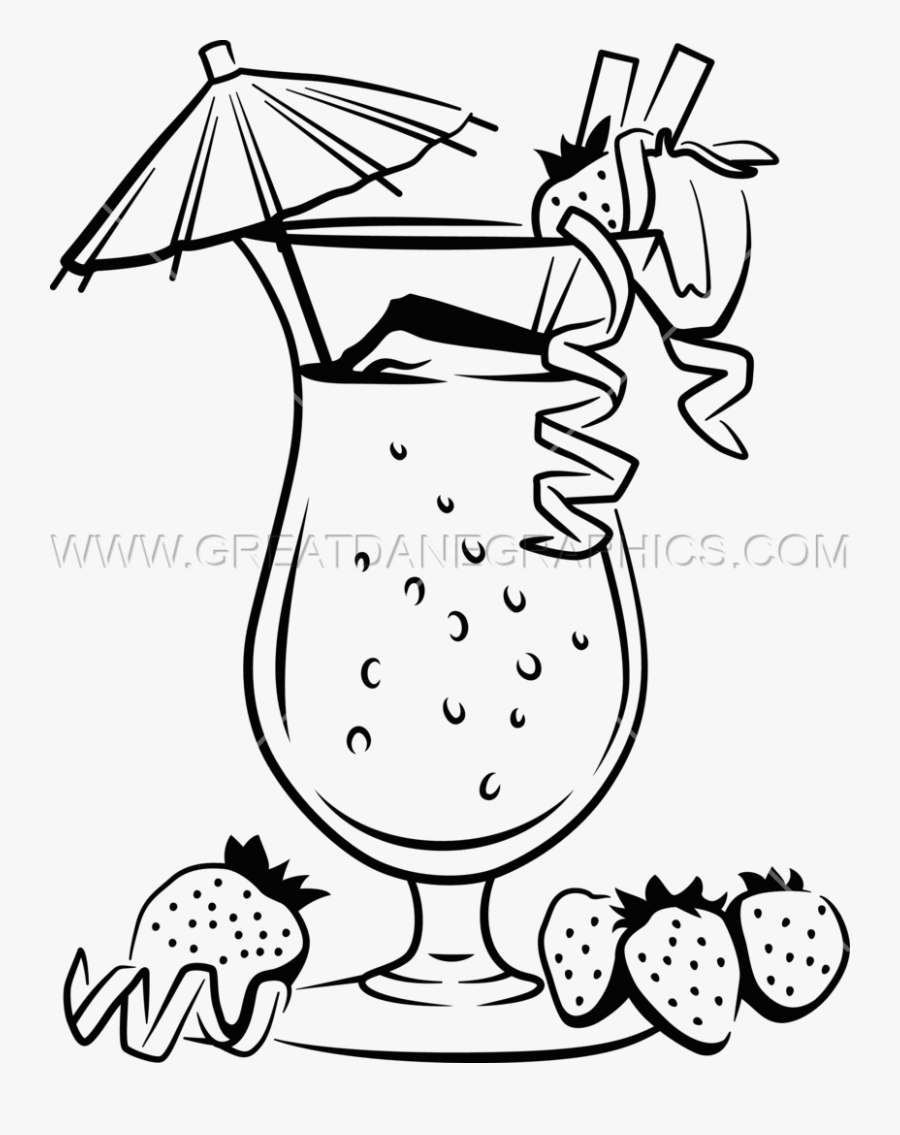 Drinks Clipart Black And White - Drink Line Art Png, Transparent Clipart