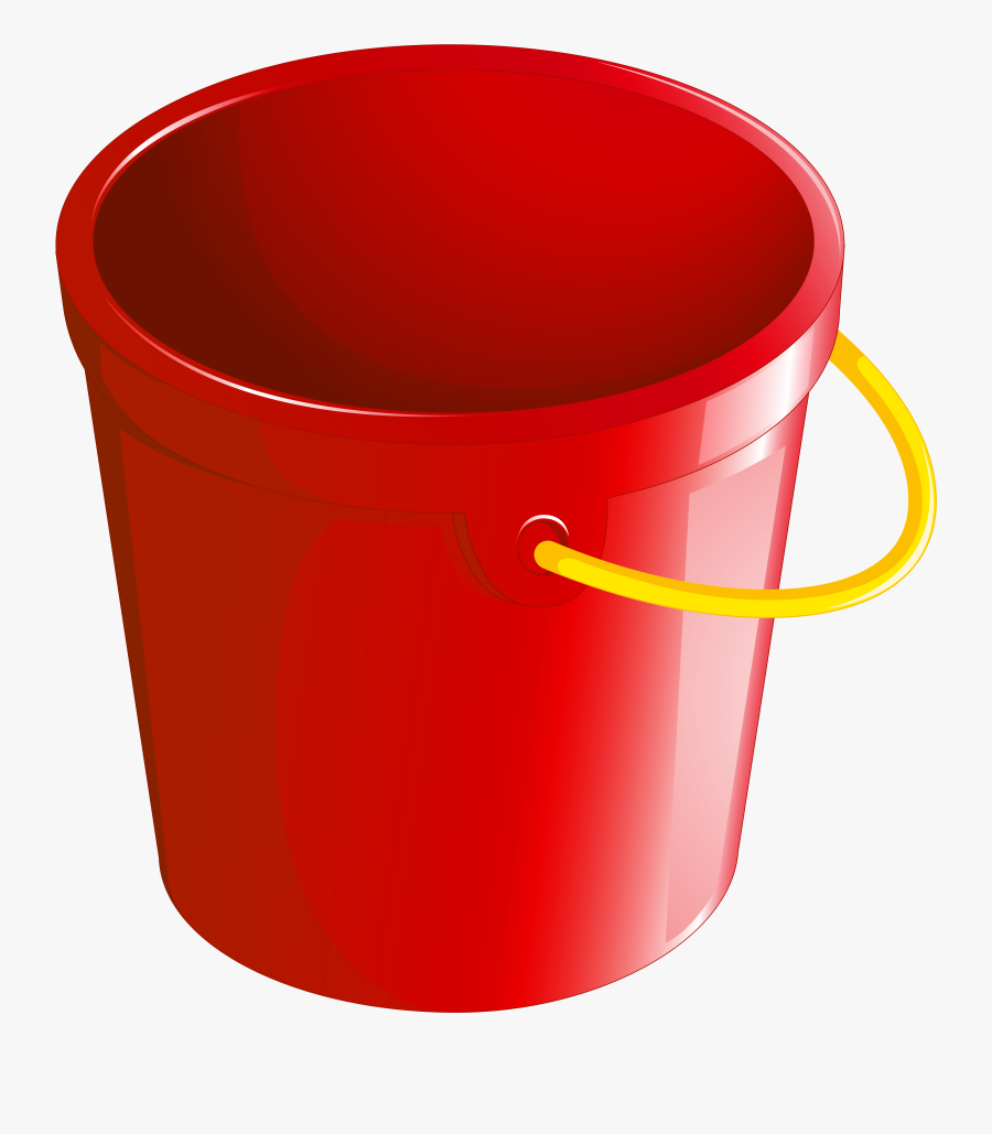 Red Bucket Png Clipart, Transparent Clipart