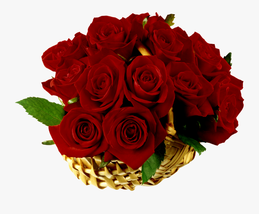Rose Basket Flower Clip Art - Иришка С Днем Рождения, Transparent Clipart