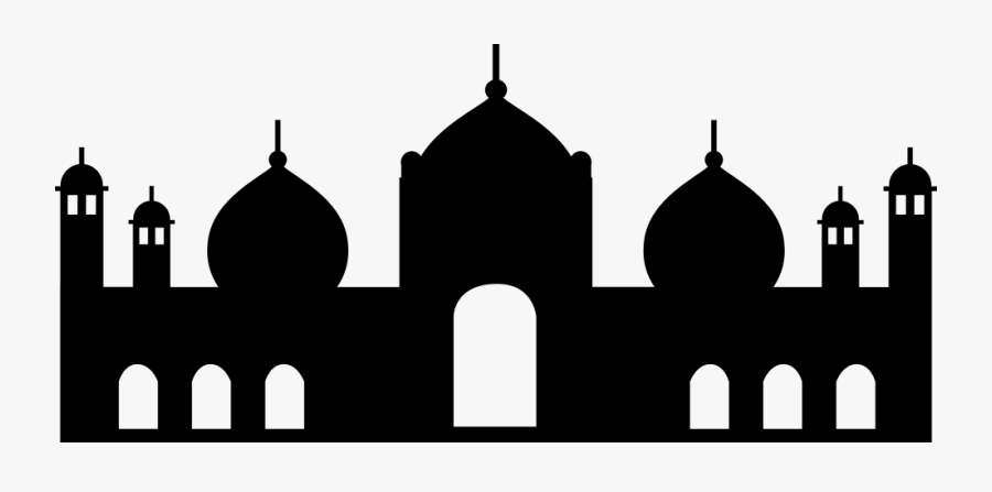 Badshahi Svg Png Icon - Badshahi Mosque Silhouette Png, Transparent Clipart