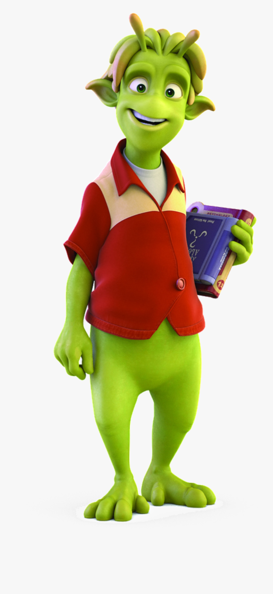 Planet 51 Main Character, Transparent Clipart