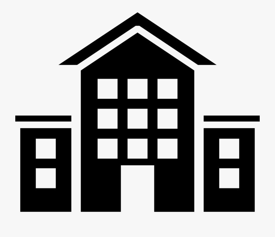 School Building - School Building Icon Png, Transparent Clipart