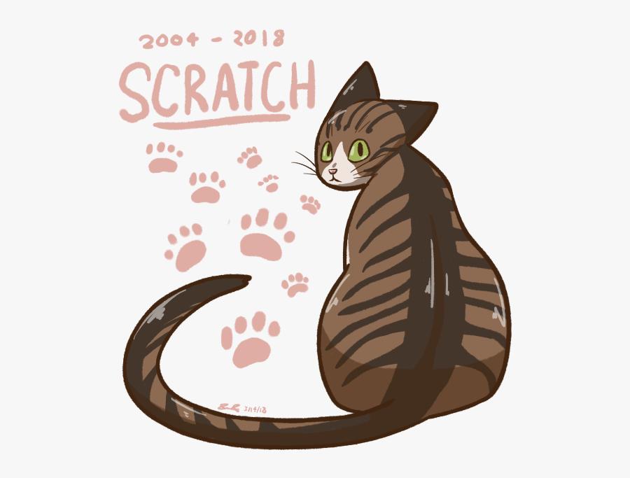 Transparent Cat Scratch Png - Animal Footprint Tattoos Model In Neck, Transparent Clipart