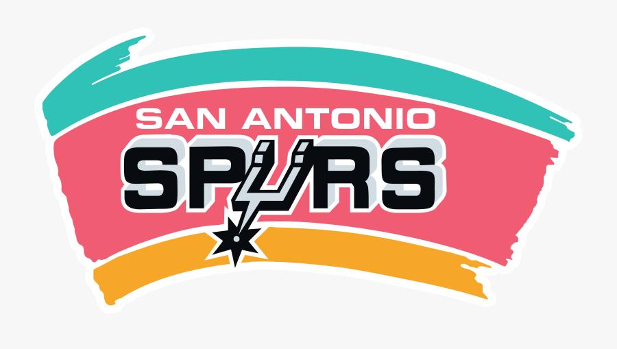 San Antonio Spurs Fiesta Logo, Transparent Clipart