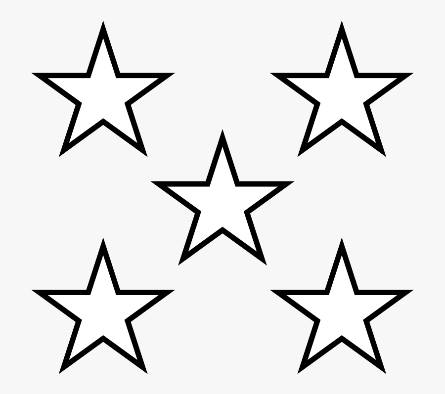 5 Stars Clipart Black And White, Transparent Clipart