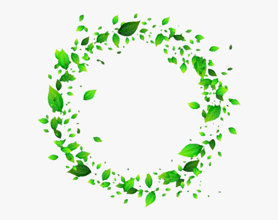 #leaves #circle #frame #green - Green Leaf Circle Png, Transparent Clipart