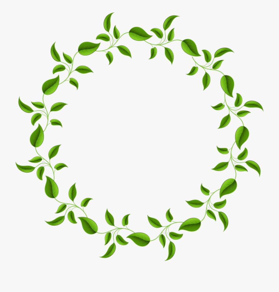 Leaves Frame Circleframe Border Ftestickers - Leaf Pattern Leaf Clipart, Transparent Clipart