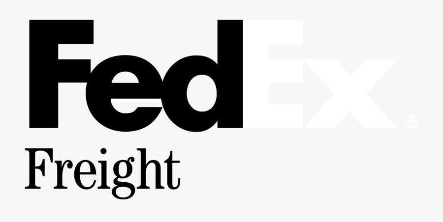 Fedex Freight Logo Black And White - Fedex Freight, Transparent Clipart