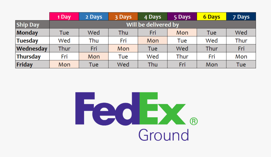 This Map Illustrates Service Schedules In Business - Fedex, Transparent Clipart