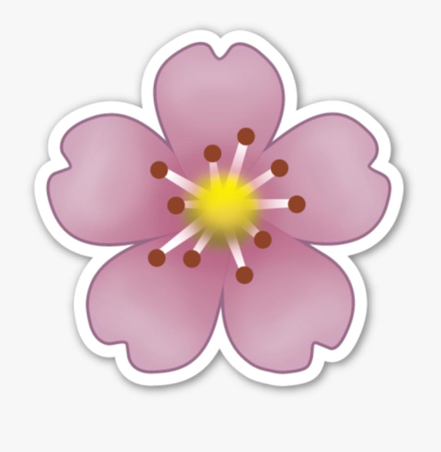 #flores #flor #love #flawers #emogi #emojis #smile - Flower Emoji Sticker, Transparent Clipart