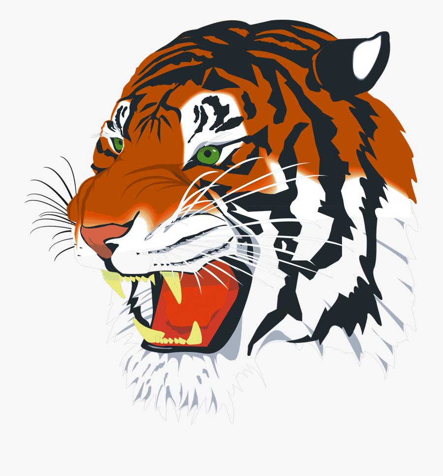 Tiger In Png - Tiger Head Png, Transparent Clipart