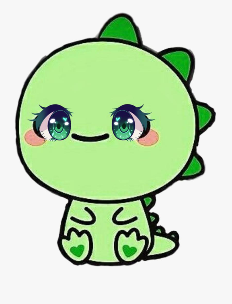 #dino #babydino #dinosaur #cute #emoji - Easy Cute Dino Drawing, Transparent Clipart