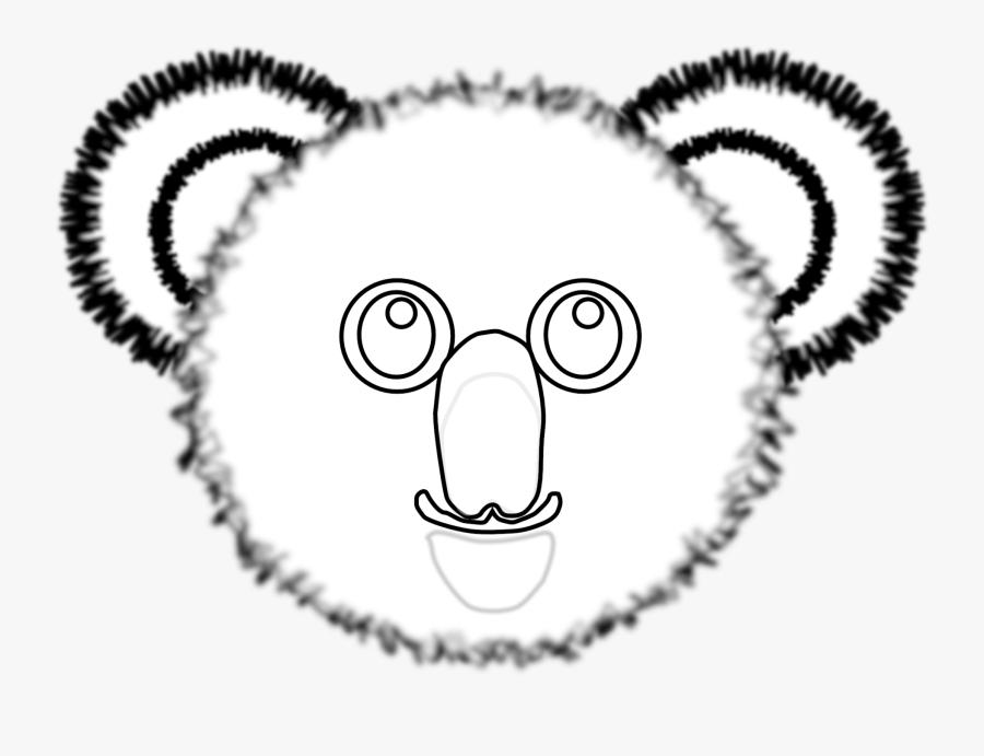 Clip Arts Related To - Koala Bear Face Colouring, Transparent Clipart