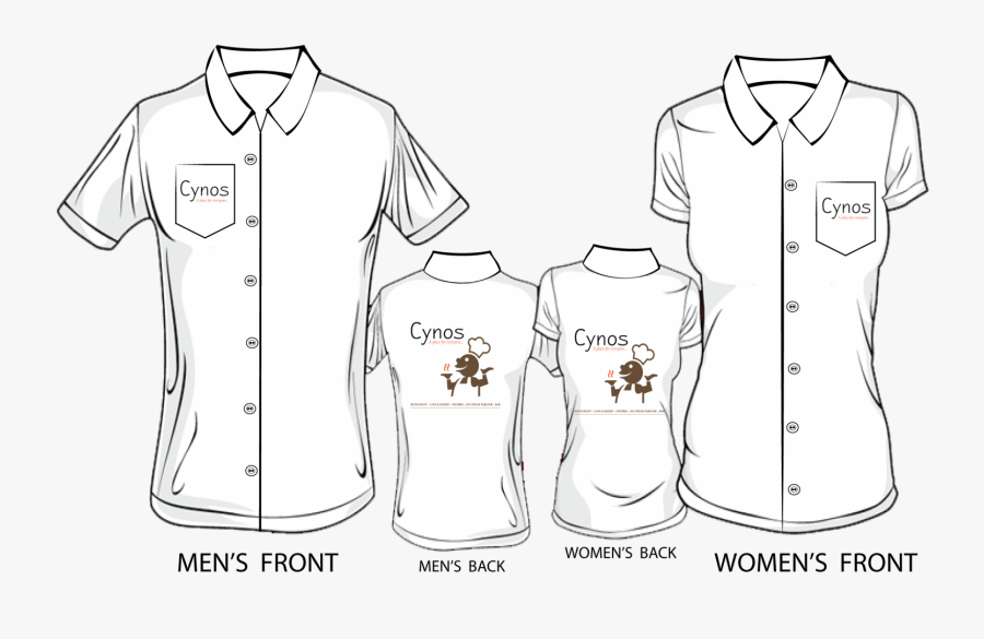 Men And Women T Shirt Template, Transparent Clipart