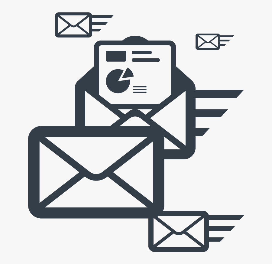 Email Marketing Png Transparent Icon - Email Marketing Campaign Icon, Transparent Clipart